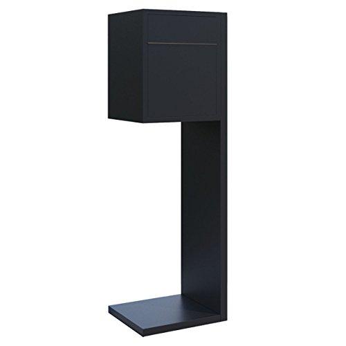 Standbriefkasten, Design Briefkasten Hermes Schwarz - Bravios