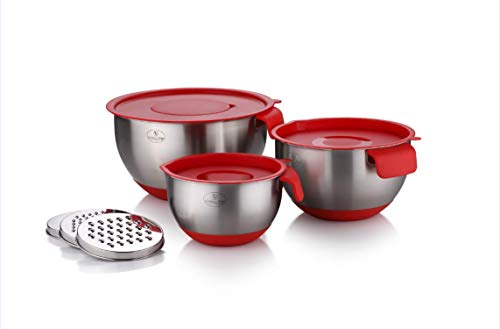 Culinary Edge 18/10 Stainless Steel Mixing Bowl Set