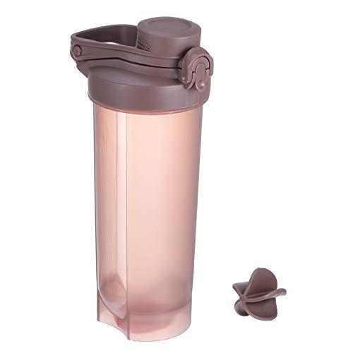 ABOOFAN Botella plástica de los deportes de la aptitud de la botella de la coctelera de