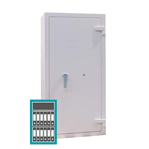Sistec Wertschutzschrank EM0 A 1000/6, Doppelbartschloss mit 2 Schlüsseln, Grad 0 nach EN 1143-1, H100xB60xT50 cm, 200 kg