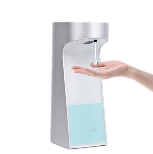 ZRJ Dispensador de jabón líquido dispensador de jabón sin contacto con sensor inteligente desinfectante dispensador de jabón líquido simple humano para cocina baño (color: plata)
