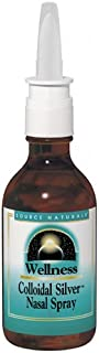 Source Naturals Wellness Colloidal Silver Nasal Spray 10 ppm - Pure, Premium Silver Mineral Support Supplement - 2 oz