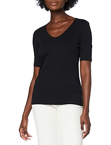 Street One Damen T-Shirt 313104 Palmira, Schwarz (Black 10001), 36