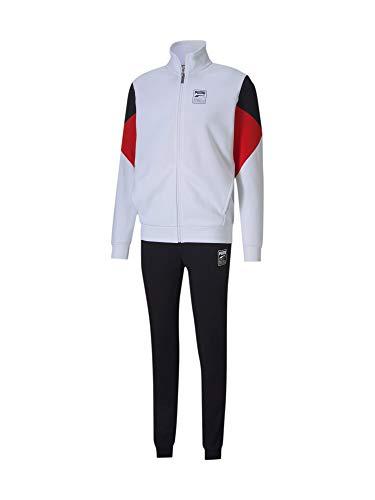 Puma mens Sweat Suit Puma White Tracksuits-M (58359602)