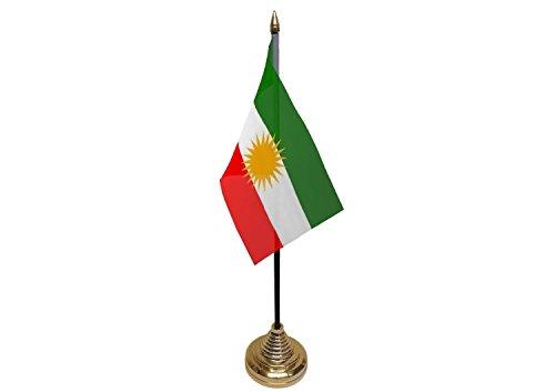 Koerdistan Hand Hand Tafel of Waving of Waving Vlag - Geen Basis