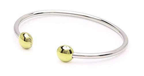 "QRAY Combo Standard Steel Golf Athletic Bracelet Men Women C-Shaped Health Wellness Bracelet (Large: 7.75""~8.5"")"