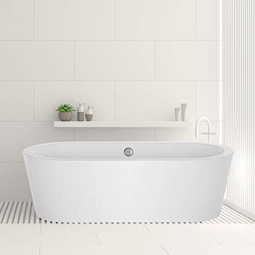"Empava EMPV-FT1505 59"" Acrylic Freestanding Bathtub"