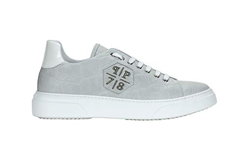 PHILIPP PLEIN 2553 Sneaker W Herren Men Shoes, Weiß - Bianco - Größe: 40 EU