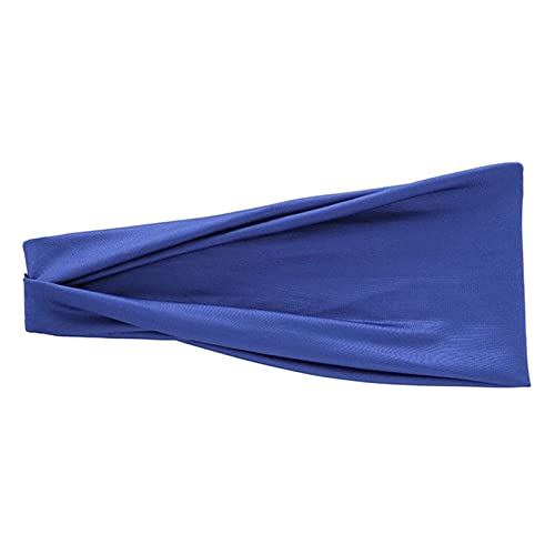 PPLAX Yoga Stirnband Yoga Stirnband Sport elastische Haarband 1 stücke Sport Yoga zubehör Tanz Biker breit Haarband elastisches Haarband (Color : Royal Blue)