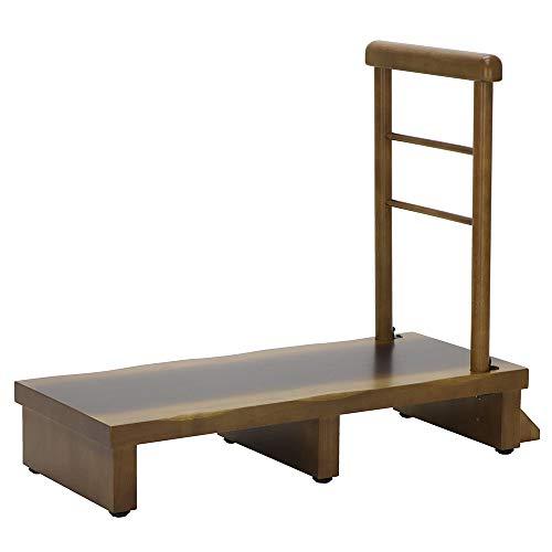 ヤマソロ 手すり付玄関台 90cm幅 昇降補助 玄関ステップ 踏み台 睡蓮 すいれん 74-117