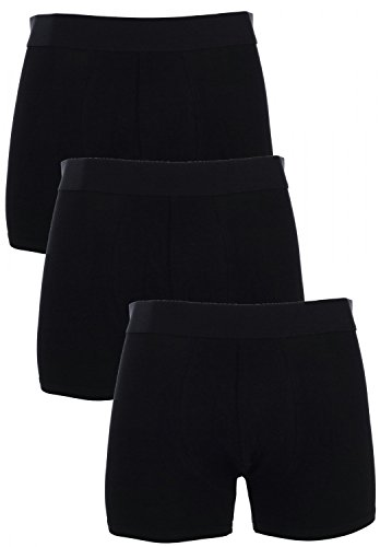 MG-1 3 Boxershorts Pants Boxer Trunk schwarz grau anthrazit Farbwahl, Grösse:XXL - 8-56, Farbe:schwarz