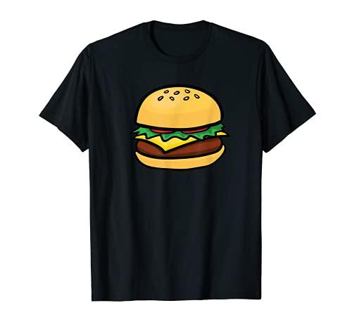 Cheeseburger Emoticon T-Shirt Hamburger Cheese BBQ