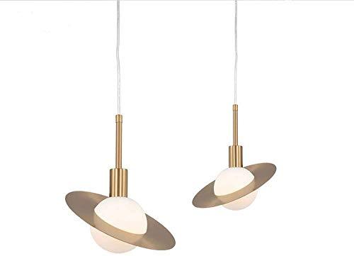 Hanglamp armaturen licht postmodern minimalistische kleine Kroonluchter Nordic koper glazen bal creatieve slaapkamer nachtkastje kroonluchter 310* H310mm 420*H370mm (Maat: 31 * 31CM)-42 * 37CM
