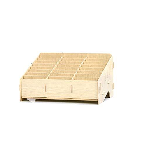 dewdropy Mobile Phones Aufbewarhungs Box Klassenzimmer, 32.6x20x17.5cm Handy Management Aufbewahrungsbox Aus Holz Kreative Desktop Büro Meeting Finishing Grid Multi Handy Rack Shop Anzeige