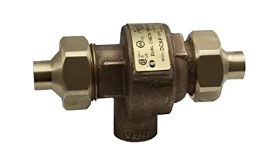 "Apollo 40LF4A33AM Bronze Lead Free Dual Check Valve with Atmospheric Port, 1/2"" NPT Female from Conbraco"