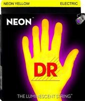 Neon HI-DEF - Cuerdas fluorescentes para guitarra eléctrica (009-046), color amarillo