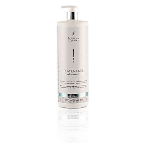 Profesional Cosmetics Placentinol Champú Prevención de la Caída del Cabello, 1000 ml, Pack de 1