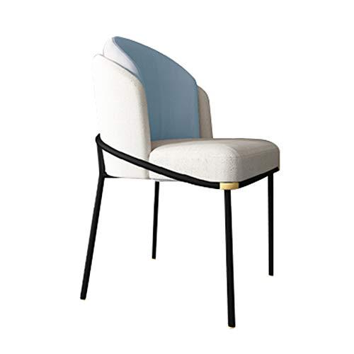 Dining chair Esszimmerstuhl im europäischen Stil Home Schlafzimmer Ankleidestuhl Schmiedeeisen Cafe Stuhl Bürostuhl Loungesessel 59 * 58 * 79cm