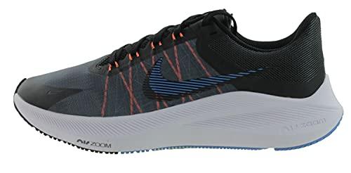 Nike Winflo 8, Zapatillas para Correr Hombre, Dk Smoke Grey Black Coast Total Orange White, 44.5 EU
