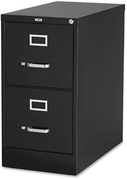 Lorell 2 Drawer Vertical File 15 By 22 By 28 Black LLR42291