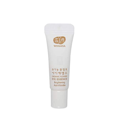 WHAMISA Organic Flowers Eye Essence - Korean Skin Care Augencreme gegen Falten und Augenringe Serum mit Adenosin - Koreanische Kosmetik Cream Sanft Fermentiert - Reisegröße...