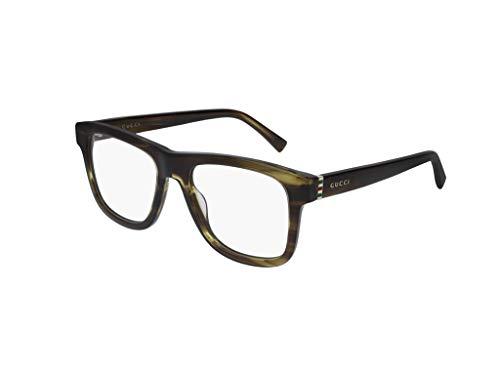 Gucci Occhiale da Vista GG0453O 008 havana montatura plastica taglia 53 mm occhiale uomo