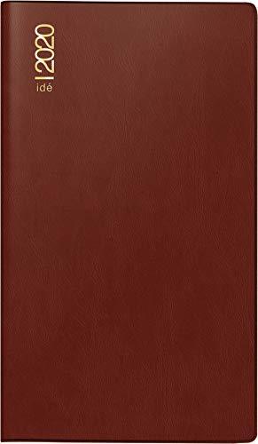 rido/idé 701221229 Taschenkalender/Plankalender TM 17/contacter (2 Seiten = 1 Woche quer, 153 x 87 mm, Kunststoff-Einband bordeaux, Kalendarium 2020)