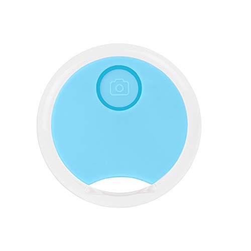 Mini Gato/Perro Localizador de Seguimiento GPS, Pequeño Dispositivo portátil Inteligente Anti-pérdida para niño/Mascota, Redondo Impermeable Dispositivo de alarmas Bluetooth (Nuevo25-Azul, ONE 1 Pack)