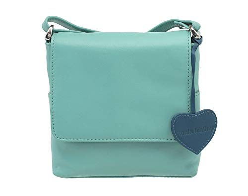 Mala Leather ANISHKA Collection Compact Leather Shoulder/Cross Body Bag 772_75 Green