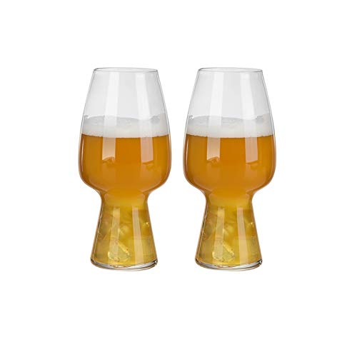 DALIZHAI2021 Gafas de Cerveza 550 ml La Copa de Cerveza Ideal para Festivales BBQ y Juegos de fútbol Tazas de Cerveza de Vidrio de Gran Capacidad Conjunto de 2