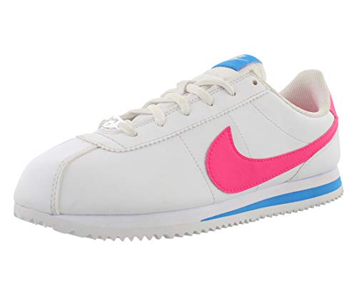 Nike Boys Cortez Basic SL (GS) Shoe, Scarpe da Trail Running Uomo, Multicolore (White/Hyper Pink/Photo Blue/Black 107), 38.5 EU