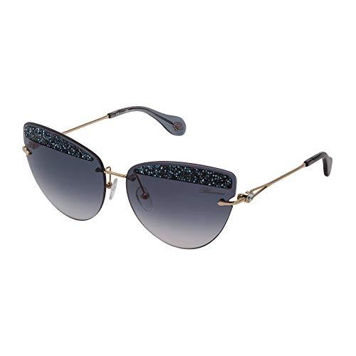 Blumarine Gafas de sol SBM138S 300K 65-15-140 mujer oro rosa brillante Lentes Smoke gradient
