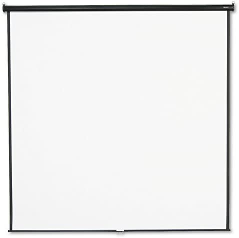 Quartet : Wall or Ceiling Projection Screen, 96 x 96, White Matte, Black Matte Casing -:- Sold as 2 Packs of - 1 - / - Total of 2 Each