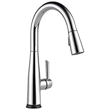 Delta Faucet Essa Single-Handle Touch Kitchen Sink Faucet with Pull Down Sprayer Touch2O Technology and Magnetic Docking Spray Head Chrome 9113T-DST