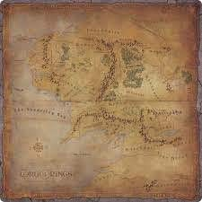 Asmodee El Señor de los Anillos - Viajes en la Tierra Media - Alfombra de juegos de Tierra Media