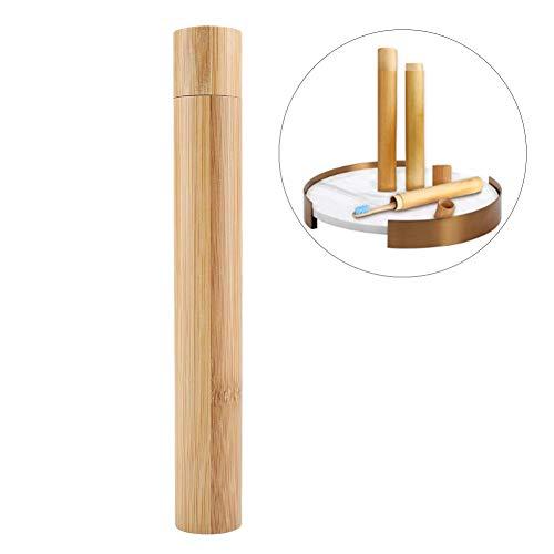 HEEPDD Natürlicher Bambus Zahn bürsten behälter, tragbarer umweltfreundlicher Zahnbürsten Schutz kastenhalter für Reise kampierende Schule