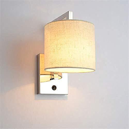 XinQing Lámparas de araña Luz De Lectura LED De Pared LED De Iluminación De Paredes con Telas Blancas