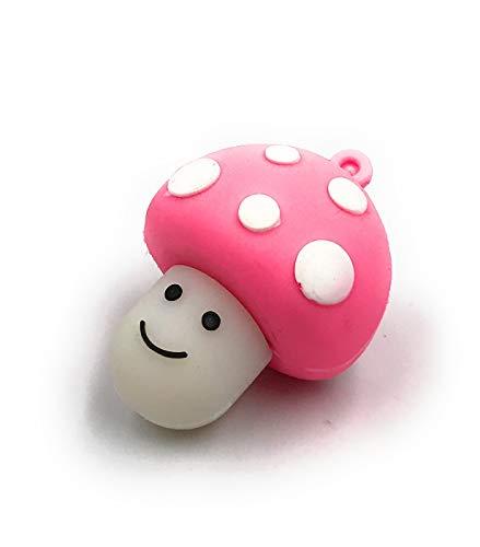 Onlineworld2013 Pilz Glücksbringer Fliegenpilz mit Gesicht pink rosa Funny USB Stick 32 GB USB 2.0