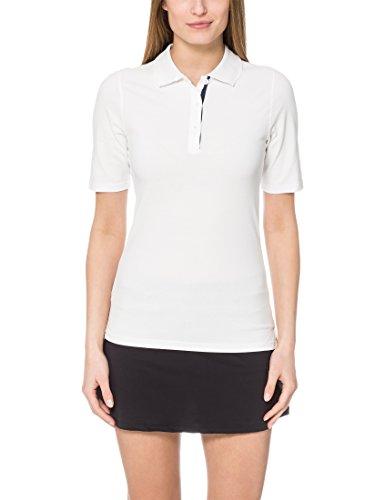 Ultrasport Damen Tennispoloshirt Auckland, Weiß/Blau, L
