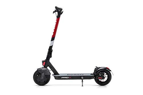 Ducati Pro-II - Patinete eléctrico, 15 kg, Motor de 350 W, sin escobillas, autonomía de hasta 25 Km, neumáticos de 10 Pulgadas, Carga máxima de 100 kg, Seguro Axa con protección Familiar incluida