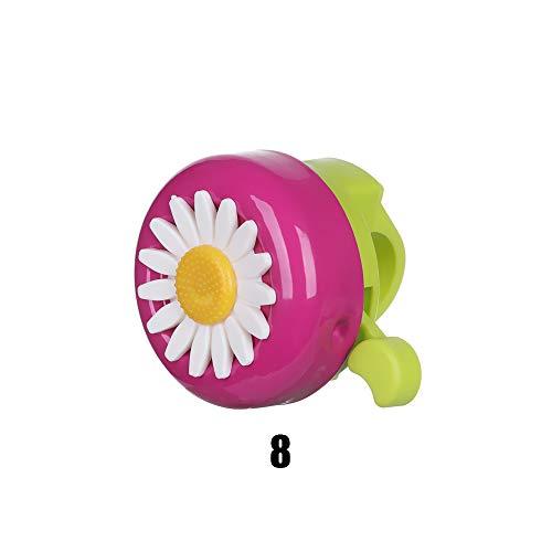 moonuk 1pc 2020 Niños Divertidos Bicicleta Bell Horns Bike Daisy Flower Niñas Niñas Anillo de Ciclismo Alarma para manillares Multicolor ( Color : A 8 )