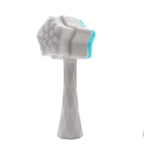 LYX Stand-up Star Wash Brosse, double face silicone souple Brosse, nettoyage du visage Brosse, outils de beauté, Nettoyant Visage, manuel de nettoyage Brosse (Color : Color-5)