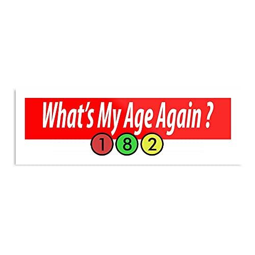 Póster decorativo de pared con texto en inglés 'My Age is Whatever I Like Design & Art Print'