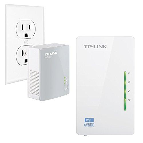 TP-Link AV500 2-Port Powerline Gigabit Wi-Fi Adapter Kit, 2-Kit (TL-WPA4220 KIT) (Renewed)
