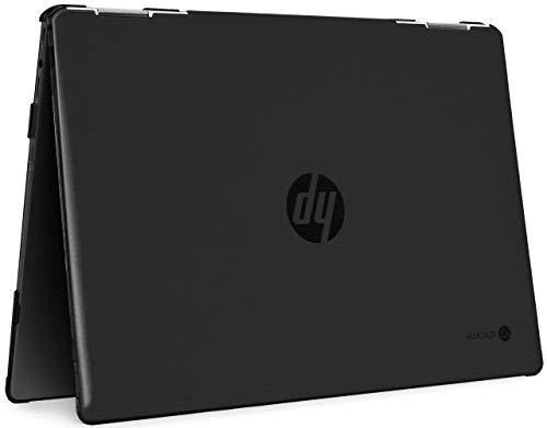 mCover Hard Shell Case for 14' HP Chromebook X360 14-DA0000 Series laptops (NOT Compatible with Other HP Chromebook & Windows laptops) (Black)
