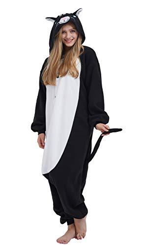 DELEY Unisexo Adulto Caliente Animal Pijamas Cosplay Disfraz Homewear Mamelucos Ropa De Dormir Gato-1 S