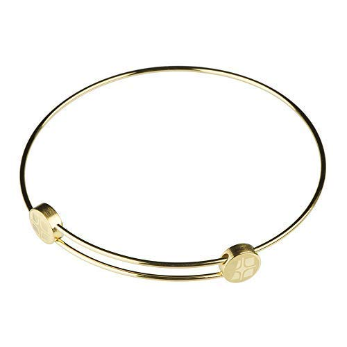Ernstes Design Armreif Edelstahl A201 vergoldet Armband