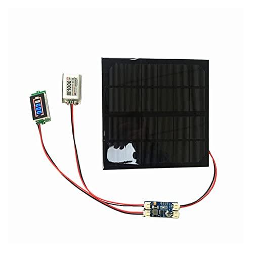 uerdand 6V 3W 9V 2W 12V 2W 3W Panel Solar con Cargador de batería Solar Min con Pantalla de batería Bricolaje (Color : 9V 2W Solar Panel)