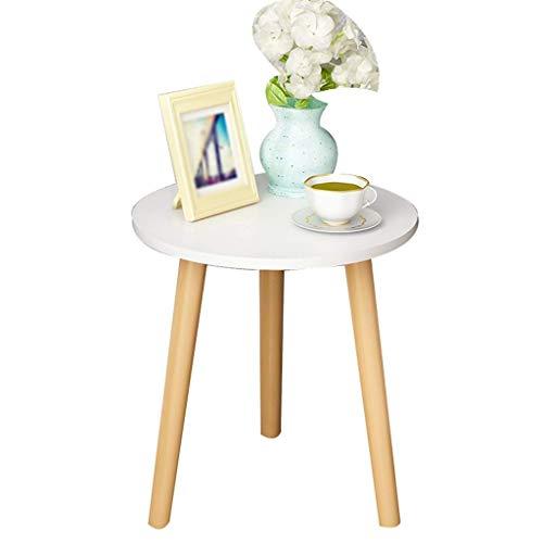 Mesa de almacenamiento HTL redonda mesa de café dormitorio mesita de noche fácil de instalar sofá de madera flor tienda expositor mesa decorativa