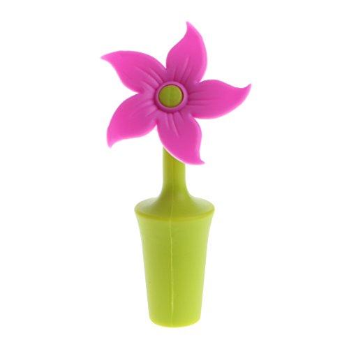 XINGYUE - Tapón de silicona reutilizable con forma de flor, para vino y bebida, varios tapones de corcho de repuesto para cerveza, aceite de oliva, champán, utensilios de cocina y bar